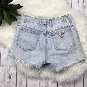 Vintage Guess High Waisted Cut Off Shorts